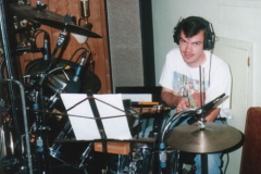 Scott Woods In The Studio On Drums